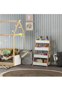 Organizador Infantil Montessoriano Single - Natural/Branco - Casatema
