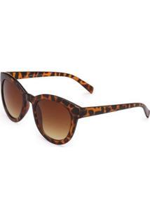 Óculos Ray Flector 271Co Feminino - Feminino-Caramelo+Preto