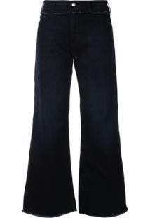 Emporio Armani Calça Jeans Pantalona - Azul