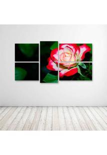 Quadro Decorativo - A Delicate Rose - Composto De 5 Quadros - Multicolorido - Dafiti