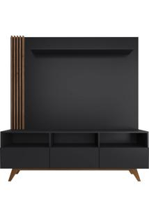 Estante Home Para Tv 50'' Kiss - Preto E