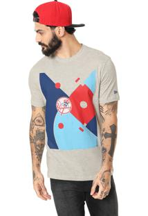 Camiseta New Era New York Yankees Cinza