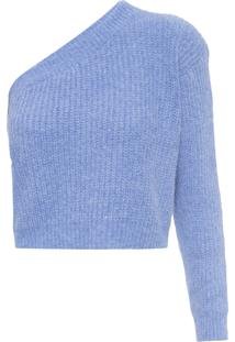 Blusa Feminina De Tricot Osaka - Azul