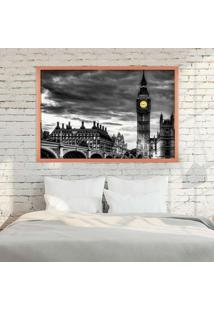 Quadro Love Decor Com Moldura London Rose Metalizado Médio