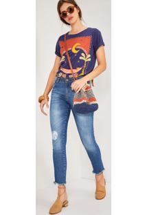 Calça Jeans Skinny Cintura Média Jeans
