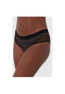 Calcinha Colcci Underwear Tanga Hype Preta