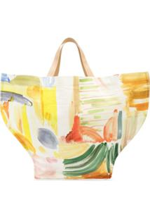 Rosie Assoulin Watercolour Print Tote Bag - Neutro