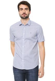 Camisa Aramis Slim Xadrez Branca/Azul