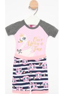 Pijama Cisne- Rosa Claro & Cinza Claropuket