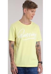 """Camiseta """"Passion"""" Amarela"""