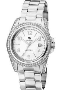 Relógio Feminino Ana Hickmann Ah20159Q - Unissex-Prata+Chumbo