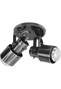 Spot De Sobrepor Em Alumínio Para 2 Lâmpadas 60W 110V Oxidado