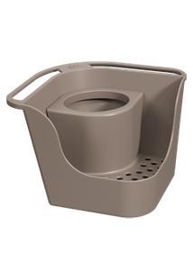 Organizador De Pia Flex Basic 16,6 X 16,6 X 12 Cm Warm Gray Coza