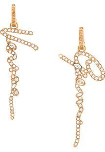 Versace Par De Brincos Gianni - Dourado