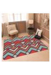 Tapete Sala Wevans Geometrico Colorido Único 90X125