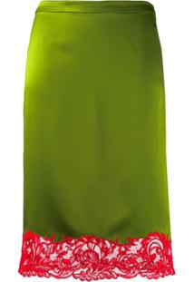 Versace Vestido Com Acabamento De Renda - Verde