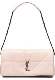 Saint Laurent Bolsa Tiracolo De Couro - 6951 Marble Pink