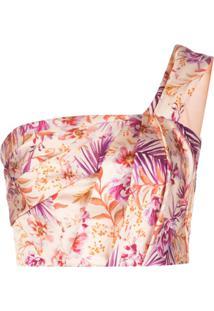 Amur Blusa Cropped Ombro Único - Rosa
