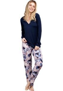Pijama Inspirate Longo Floral Nuit