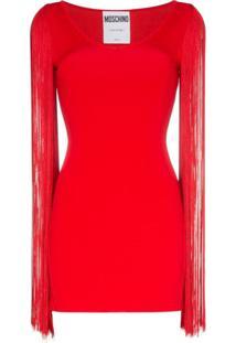 Moschino Vestido Com Decote U E Tassel - Vermelho