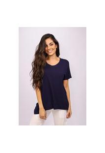 T-Shirt Amazonia Vital Malha Basic Azul Marinho