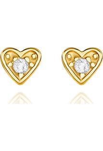 Brinco Em Ouro Amarelo 18K Com Diamante-Holiday