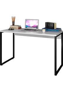 """Escrivaninha Mesa De Escritã³Rio Studio Industrial 120 M18 Branco €"""" Mpozenato - Branco - Dafiti"""