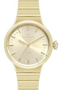 Relógio Technos Crystal Feminino - Feminino-Dourado