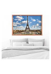 Quadro Love Decor Com Moldura Magnifique Paris Rose Metalizado Grande