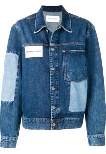 Calvin Klein Jeans Giacca Trucker Denim Jacket - Azul