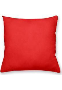 Capa De Almofada Decorativa Own Lisa Vermelha 45X45 - Somente Capa
