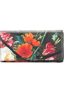 Paul Smith Carteira Com Estampa Floral - Preto