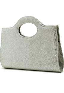 Bolsa De Mão De Festa Hendy Bag Glitter Prata