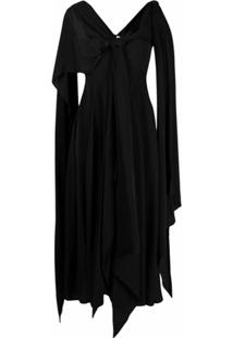 Jw Anderson Knot Detail Draped Dress - Preto