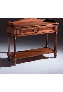 Mesa De Cabeceira Tucson Retangular Decorativa Madeira Maciça Design Clássico Avi Móveis
