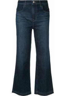 J Brand Calça Jeans Pantacourt - Azul