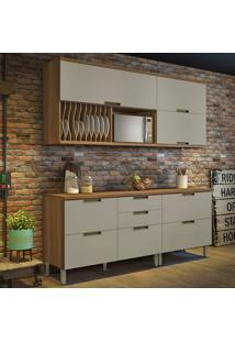 Cozinha Duquesa Completa - 4 Peças - Freijó Com Offwhite – Nesher