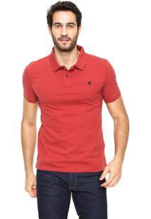Camisa Polo Timberland Slim Kennebec Vermelha