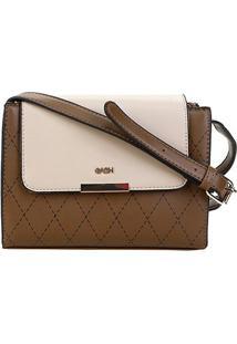 Bolsa Gash Mini Bag Recortes Tampa Feminina - Feminino-Kaki