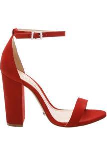 Sandália Gisele Block Heel Tango Red | Schutz