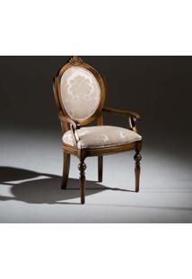 Cadeira Com Braço Amistad Madeira Maciça Design Clássico Avi Móveis