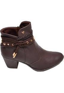 Bota Feminina Ankle Boot Mississipi Café