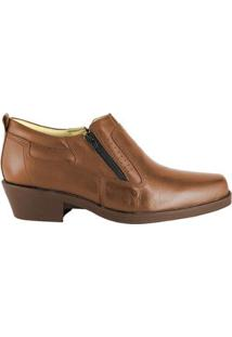 Bota Hb Agabe Boots Conforto Zíper Masculino - Masculino-Café