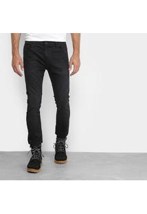 Calça Jeans Skinny Ellus Lavagem Escura Black Stone Masculina - Masculino