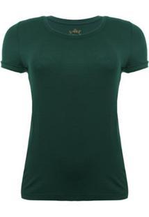 Camiseta Aleatory Viscolycra Verde Feminina - Feminino-Verde