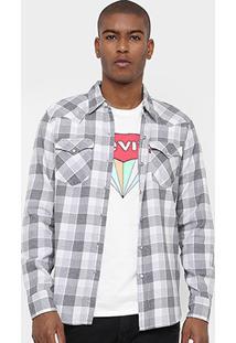 Camisa Levi'S Manga Longa Xadrez Bolso - Masculino