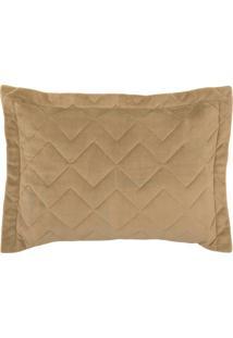 Porta Travesseiro Blend Malha Com Plush 50Cm X 70Cm Nord - Bege Bege