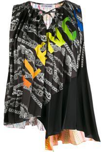 Balenciaga Blusa Com Echarpe - Preto