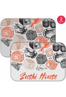 Jogo Americano Love Decor Sushi House Branco/Laranja - Kanui