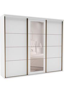 Guarda-Roupa Casal Com Espelho Eleganza L 3 Pt 3 Gv Branco